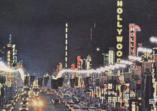1960's Hollywood postcard