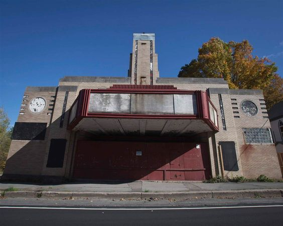 Ghostly Buildings Haunt New York's Catskills -abandoned movie house