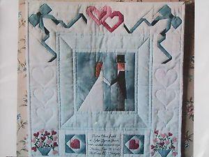 Bridal Wedding Ring Quilt Pillow Kit Pattern Keepsake Wall