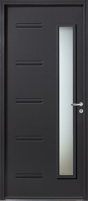 Porte entr e acier impala de couleur gris anthracite ral for Porte entree gris anthracite
