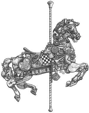 carousel zentangle inspiration horse