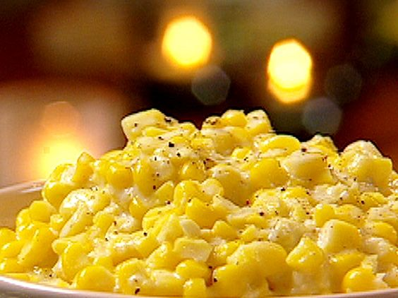 Five-Star Southern Creamed Corn from the Neely's: Food Network, Creamed Corn Recipes, Southern Thanksgiving Food, Side Dishes, Southern Creamed, Cream Cheese, Favorite Recipe, Food Recipe