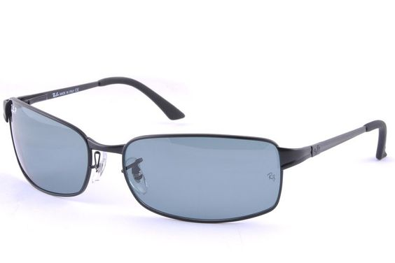 Ray-Ban RB3269 Active Lifestyle Sunglasses Blue Lens Black Frame