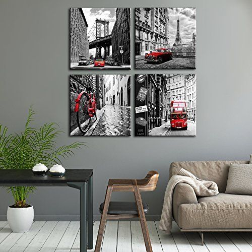 Wall Art City Canvas Prints Decor Homes Decorations Black And White Best Offer Home Garden And Tools Shop Ineedthebestoffer Com Wall Art Decor Living Room Wall Art Living Room Cities Canvas