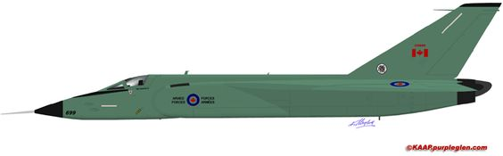 Avro Arrow Profile Art, Avro Canada, Avro Arrow, CF-105, RL-201 -- Welcome to Karl Mesojednik's Avro Arrow Dedication Page