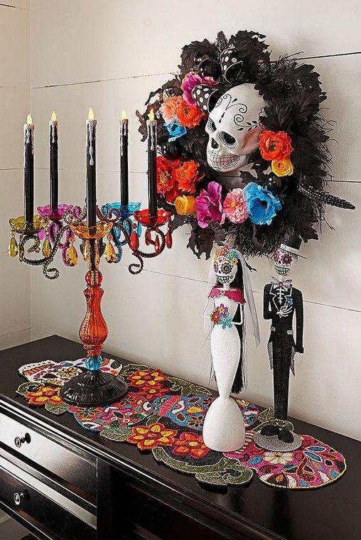Perfect Centerpiece Halloween Decoration Ideas 00021 Sugar Skull