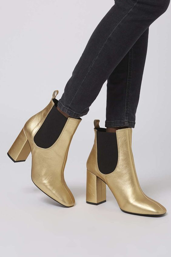 MARIA Flared Chelsea Boots   Seasons, Topshop and Leather