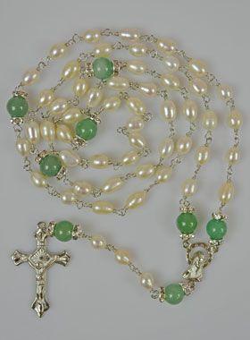 Chapelet en Nacre Véritable et Jade des Iles