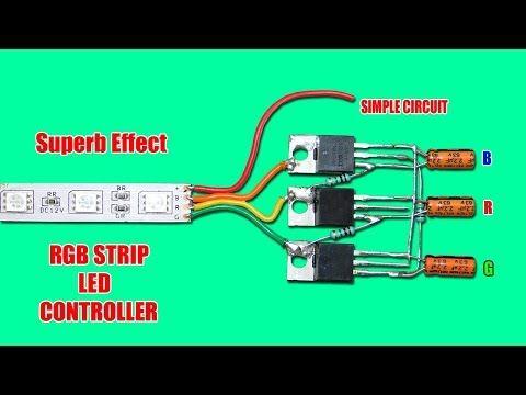 Superb Effect Rgb Strip Led Controller Circuit Youtube Led Controller Led Circuit