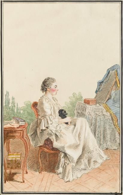 Madame la comtesse, later duchesse de Chatelet, 1758 by Louis Carrogis dit Carmontelle (1717-1806) (Chantilly)