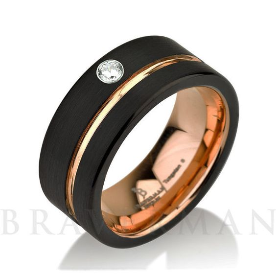 Black tungsten rings Black wedding bands and Wedding on Pinterest