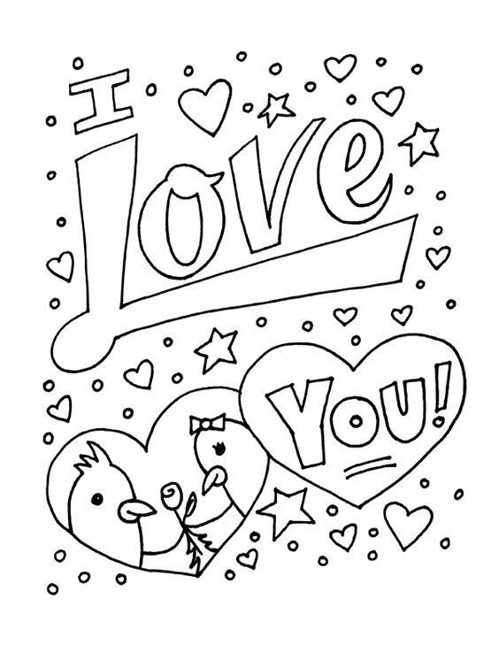 I Love You Coloring Pages Pdf : Coloring sheets you can print color monster drawings