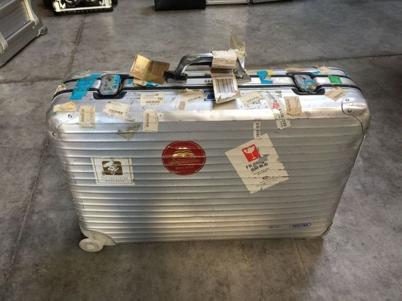 Rimowa Koffer Aluminium, 2 Rollen, große Größe, ca. 71x47x20cm