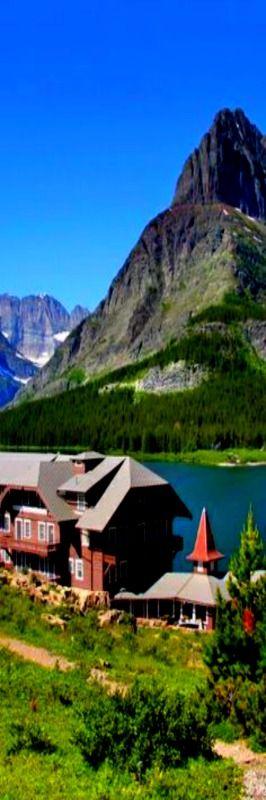 Many Glacier Lodge in Glacier National Park, Montana