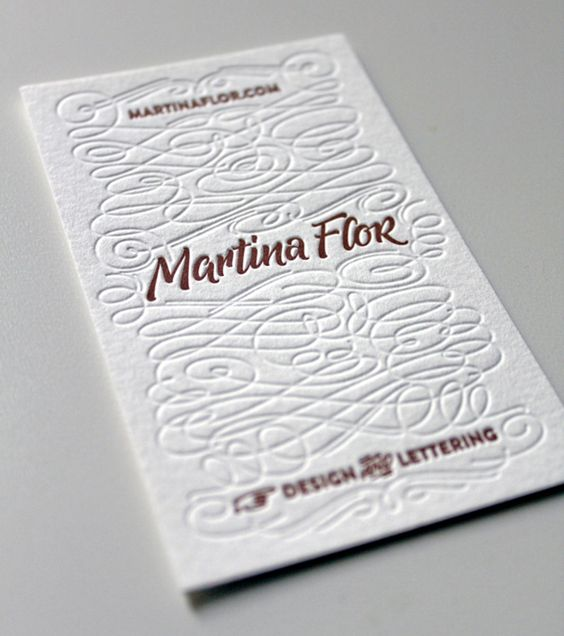 My new business cards by Martina Flor | #Business #Card #letterpress #creative #paper #businesscard #corporate #design #visitenkarte #corporatedesign < found on www.behance.net pinned by an #advertising agency from #Hamburg / #Germany - www.BlickeDeeler.de | Follow us on www.facebook.com/Blickedeeler