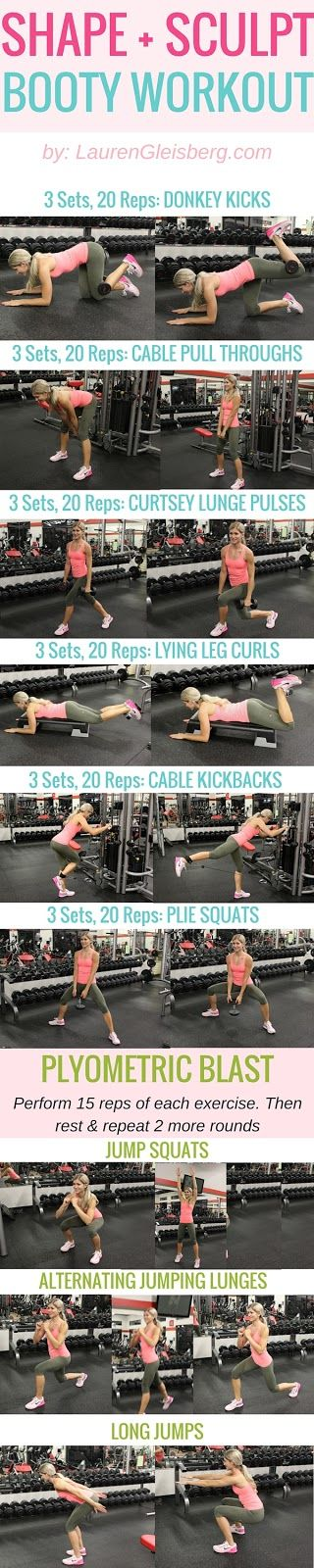 SHAPE & SCULPT LEGS & BOOTY WEIGH TRAINING WORKOUT #LGBeautyAndBooty Challenge Week 3, Day 1 by LaurenGleisberg.com