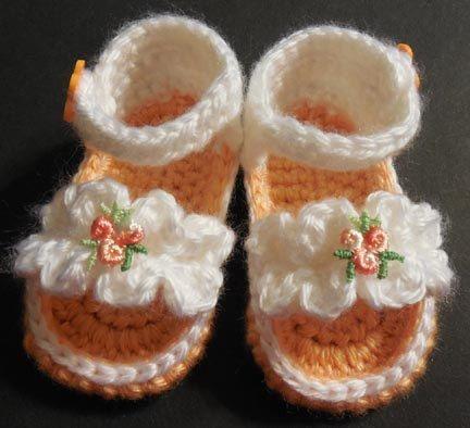 PDF CROCHET PATTERN Ruffle Baby Girl Sandals Newborn to 6 months Digital
