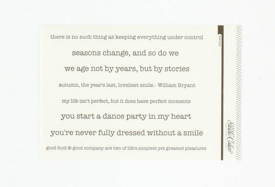 Brimfield Phrase Vellum Stickers in Washi Strips  at Studio Calico
