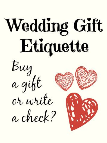 Wedding Gift Checks : Wedding gift etiquette, Wedding gifts and Gifts on Pinterest