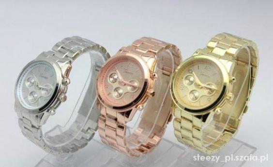 NA BRANSOLECIE ZEGAREK SREBRNY ZŁOTY RÓŻOWE ZŁOTO   Cena: 22,99 zł  #zloty #srebrny #zegarek #metal #bransoleta #rozowezloto