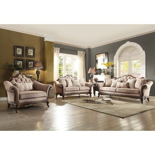Astoria Grand Chorleywood Configurable Living Room Set Reviews Wayfair In 2020 With Images Classic Living Room Living Room Sets Brown And Blue Living Room