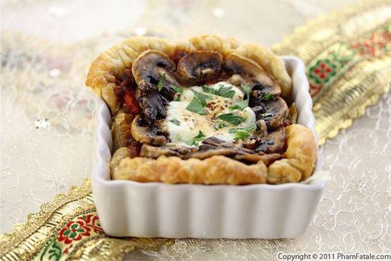 Mushroom Mozzarella Cheese Tart