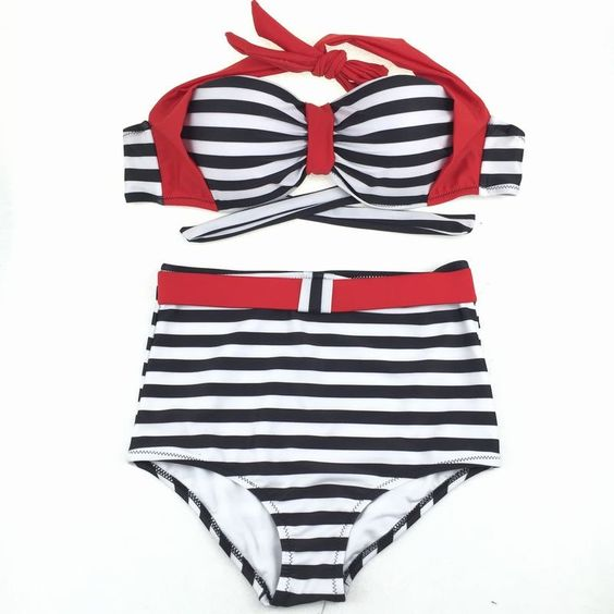 $23.99 (Buy here: https://alitems.com/g/1e8d114494ebda23ff8b16525dc3e8/?i=5&ulp=https%3A%2F%2Fwww.aliexpress.com%2Fitem%2FHigh-Waist-Swimsuit-Striped-Woman-Swimsuit-2016-New-Bikini-Swimming-Suit-for-Women-Bikini-Women-Bikini%2F32667832970.html ) High Waist Swimsuit Striped Woman Swimsuit 2016 New Bikini Swimming Suit for Women Bikini  Women Bikini Swimsuit BK226 for just $23.99
