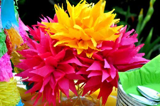 Fiesta Party Tissue Flowers