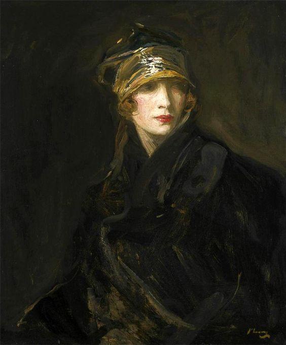 "Sir John Lavery ""The Gold Turban"":"