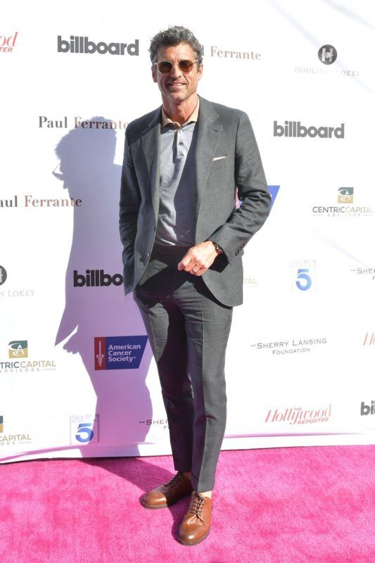 Best Dressed Men Of The Week Patrick Dempsey Looking Suave In A Brunello Cucinelli Grey Suit In La Best Dressed Man Patrick Dempsey Men Dress
