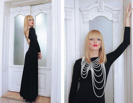 Ivana Knez DRAMA eco friendly couture, Macedonia Bastet Noir