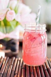 Summer Cocktail | Pink Mason Jar