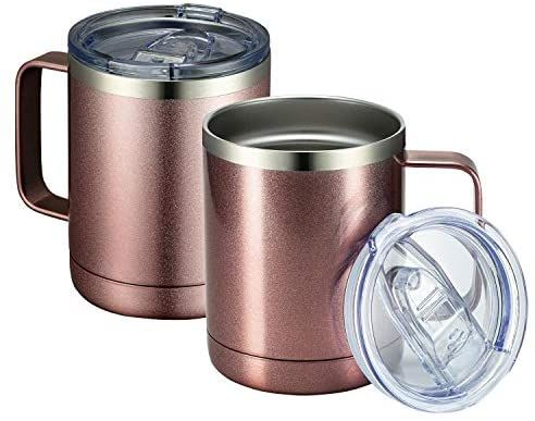 Tea Tumbler Drinking Metal Camping Coffee Mug Portable Cup Stainless Steel
