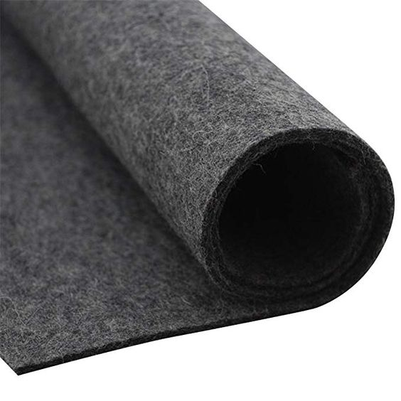 Amazon Com Homemoda Studio Thick Wool Felt Fabric Sheet Designer Wool Felt By The Yard 3mm And 5mm Thicknesses Dark Grey 5 Mm With Images Wool Felt Fabric Felt Fabric