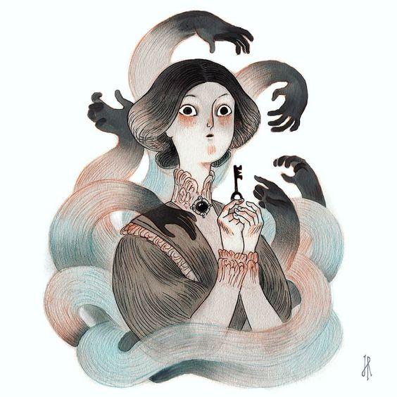 Inktober day 29: United. #inktober #inktoberunited #inktober2017 #inktoberwwp #illustration #ghost #key #victorian #illustration_best #best_of_illustrations #artguide_illustration #illustrationartists