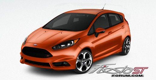 Image result for ford fiesta st molten orange