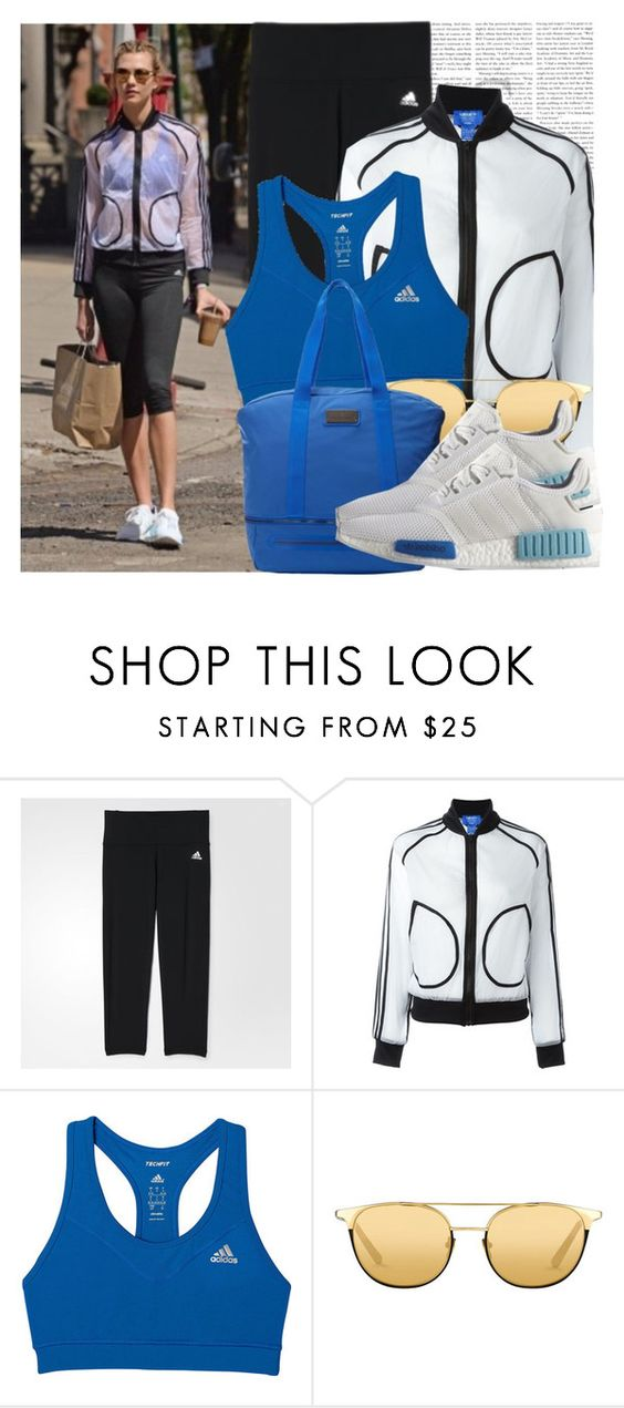 """Dress like Karlie Kloss"" by megi32 ❤ liked on Polyvore featuring adidas, adidas Originals and Linda Farrow"