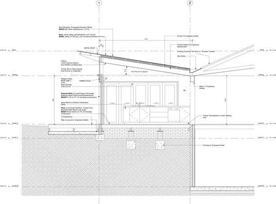 Roof design and design on pinterest for Skillion roof house plans