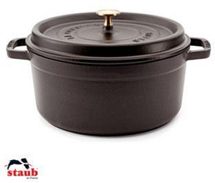 Round Cocotte, 5.5QT, Black Matte