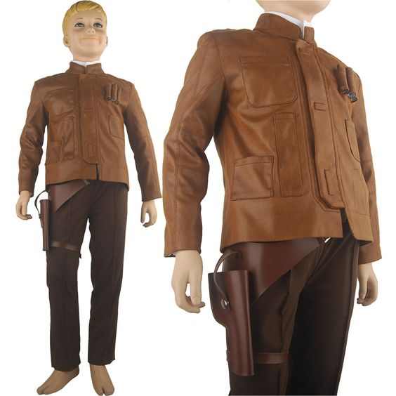 Star Wars VII The Force Awakens Han Solo Cosplay Costume Halloween Costume Kids Children Boys