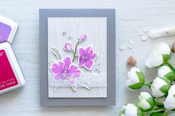 Hero Arts | Purple Orchids - Sending Love by Yana Smakula