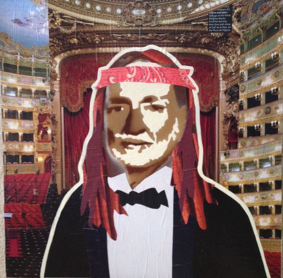 WILLIE AS CONDUCTOR -- 12 x 12in -- Mixed Media on Board -- CONTACT: annegenung@gmail.com