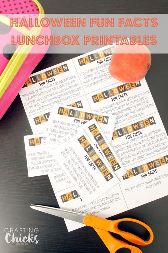 Halloween Fun Facts Lunchbox Printables are a great way to spice up a home lunch for kids. They will get some extra reading practice in without knowing it.