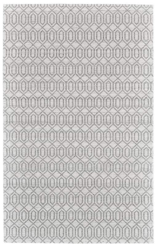 Bronx Ivy Coria Hand Woven Silver Gray Area Rug Grey Area Rug Hand Weaving Blue Area Rugs
