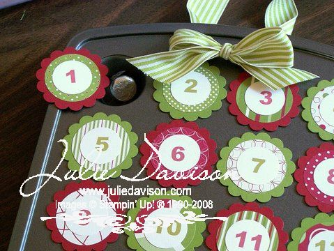 Julie's Stamping Spot -- Stampin' Up! Project Ideas Posted Daily: Countdown to Christmas Advent Calendar Class