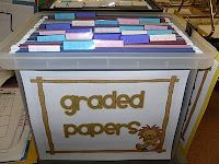 graded papers filed for Fridays...this is what I do! Such a helpful system!