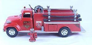 Vintage 1950'S Tonka Pressed Steel Suburban Fire Pumper Truck W Hydrant | eBay