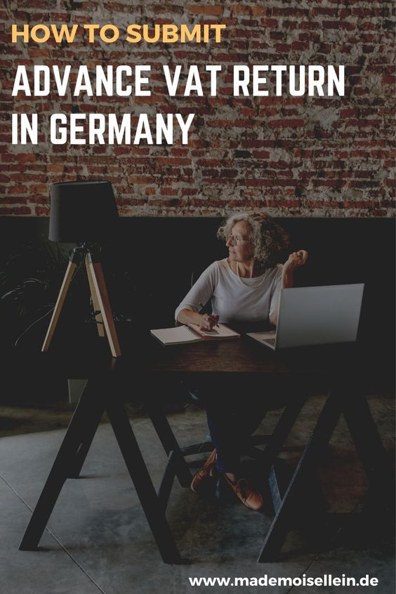submit advance VAT return Germany