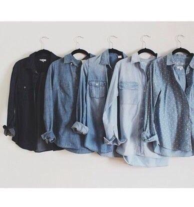 MINIMAL + CLASSIC: chambray shirts: