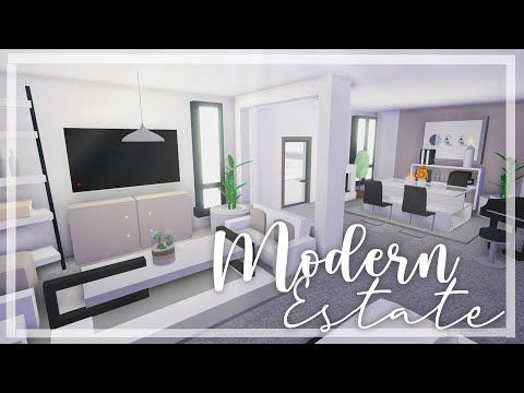 Modern Minimalistic Estate Home Speed Build Part 1 Roblox Adopt Me Youtube My Home Design Cute Room Ideas Home Roblox